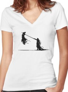 Cloud and Sephiroth Women's Fitted V-Neck T-Shirt