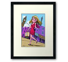 London Manga shopping girl Framed Print