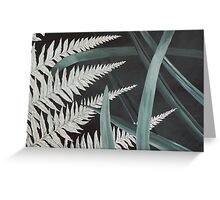 Fern and Flax card, New Zealand Greeting Card