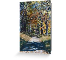 'Autumn Trail ( Bass Lake, Blowing Rock, NC)' Greeting Card