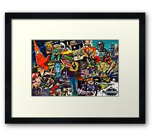 Sci Fi Retro Framed Print
