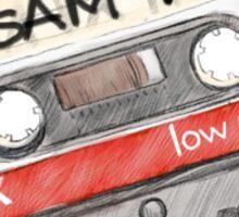 Sam Winchester Mixtape Sticker