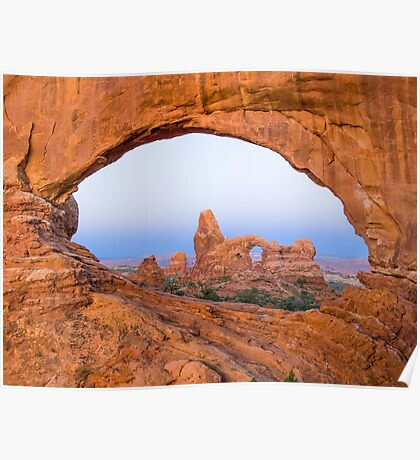 Turret Arch through the North Window Arch Poster
