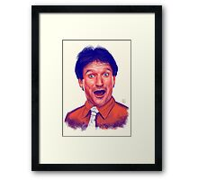 Young Robin Williams Framed Print