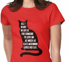 Kate McKinnon Loves Cats Womens Fitted T-Shirt