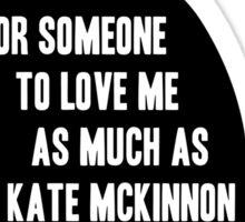 Kate McKinnon Loves Cats Sticker