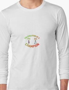 POKEMON EVOLUTION OF THE CHAMPION (COLOR TEXT) Long Sleeve T-Shirt