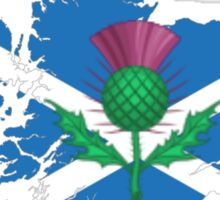 Scottish thistle & map. Sticker