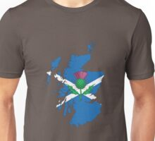 Scottish thistle & map. Unisex T-Shirt