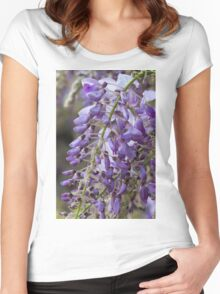 wisteria blooming Women's Fitted Scoop T-Shirt