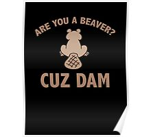 Are You A Beaver? Cuz Dam Poster