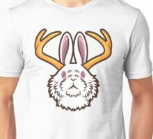 White Jackalope Unisex T-Shirt