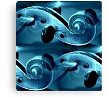 The Blue Violine Canvas Print