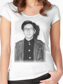 Japanese Hero - Otoya Yamaguchi Women's Fitted Scoop T-Shirt