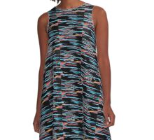 New Wave : Neon Abstract  Art A-Line Dress