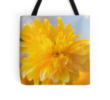 yellow flowers in spring Tote Bag