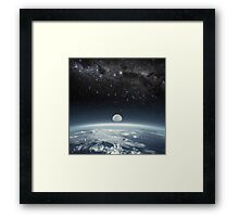 Space bound Framed Print