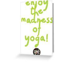 Mad Yogi # 6 Greeting Card