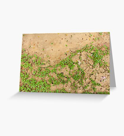 Earth is Green Greeting Card