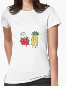 Apple Being a Pineapple Womens Fitted T-Shirt