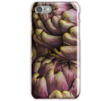 Fresh purple artichokes in wicker basket iPhone Case/Skin