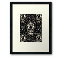 Linework Skull Framed Print