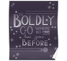 To Boldly Go... Poster