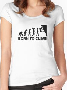 Evolution born to climbing Women's Fitted Scoop T-Shirt