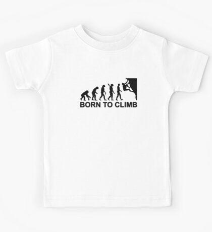 Evolution born to climbing Kids Tee
