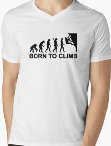 Evolution born to climbing Mens V-Neck T-Shirt