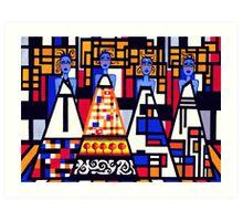 Mondrian Mothers Art Print