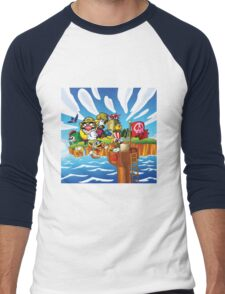 Wario - Super Mario Land 3 Men's Baseball ¾ T-Shirt