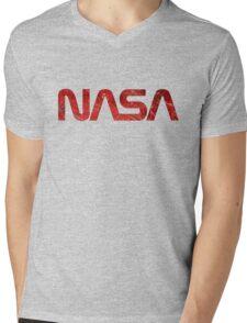 NASA Vintage Emblem 1975-1992 Mens V-Neck T-Shirt