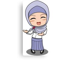 Hijab Girl Anime Chibi Canvas Print