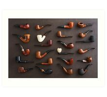 Collection of pipes Art Print