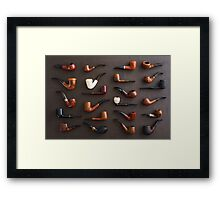 Collection of pipes Framed Print