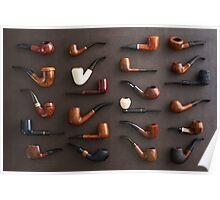Collection of pipes Poster