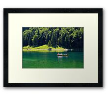 A Boat Ride on the Lake Framed Print