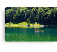 A Boat Ride on the Lake Canvas Print