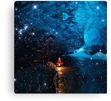 Blue Lagoon (Ice Land) (Square) Canvas Print