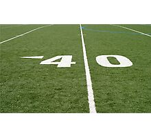 Football Field Forty Photographic Print