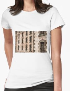 Port Arthur building in Tasmania, Australia. Womens Fitted T-Shirt