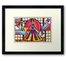 Technicolor Geisha Framed Print