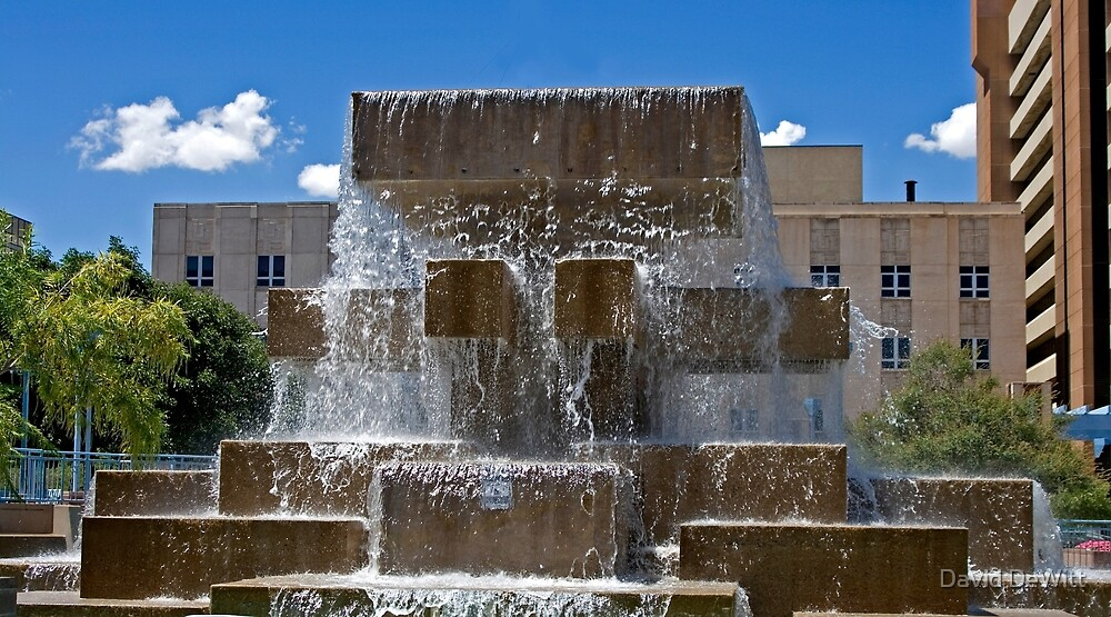 Grand Fountain on the Plaza by David DeWitt