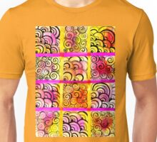 Painted Squares Art with Ornament Unisex T-Shirt