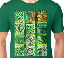 Painted Squares Art with Ornament 2 Unisex T-Shirt