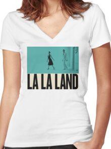La La Land Women's Fitted V-Neck T-Shirt