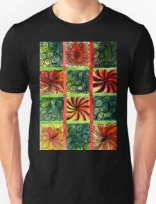 Painted Squares Art with Ornament 3 Unisex T-Shirt
