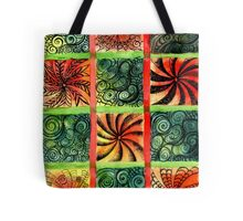 Painted Squares Art with Ornament 3 Tote Bag