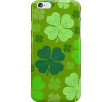 Saint Patrick's Day, Four Leaf Clovers - Green iPhone Case/Skin